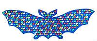 """Массажный коврик с цветными камнями """"Летучая Мышь"""" 145 х 50 см"""