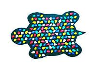"""Массажный коврик с цветными камнями """"Черепаха"""" 80 х 50 см"""
