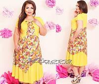 Платье штапель Цветы э182