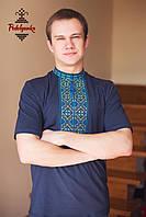 Чоловіча вишиванка Традиційна синьо-жовта