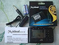 MT560W Meideal Цифровой гитарный тюнер настройщик метроном настроечный для струнных и духовых инструментов 2,1