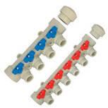 Коллектор полипропиленовый на 4 выхода (40*2) Kalde Blue