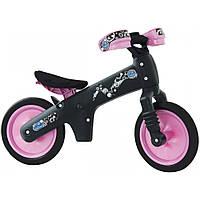 Детский фиолетовый с черным беговел для девочек (Италия) пластиковый Bellelli