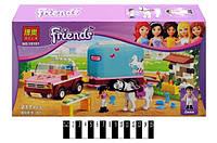 Конструктор Brick Friends Трейлер для лошадки Эмми 217дет. 10161
