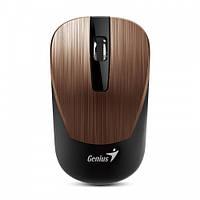 Мышь беспроводная Genius NX-7015 USB коричнево-розовая (31030119104)