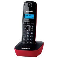 Радиотелефон DECT Panasonic KX-TG1611UAR Black Red