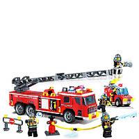 Конструктор BRICK 908 Пожарная тревога, 607 дет