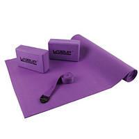 Набор для йоги YOGA SET  (коврик для йоги, 2 йога-блока, ремень)