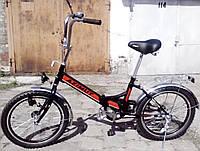 """Складной велосипед Салют 20""""2009-1 фара"""