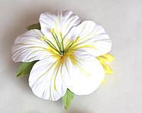 """""""Солнечные тропики"""" заколка для волос  цветок ручной работы. Украшения из полимерной глины"""