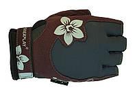 Удобные и стильные перчатки PowerPlay для спорта. Коричневый