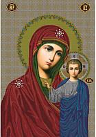 Схема для вышивания бисером Казанская икона Божьей Матери КМИ 1002