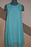 Платье женское цвет мята в горох