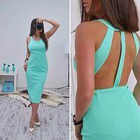 Платье - сарафан летнее миди с открытой спиной разные цвета SMB195