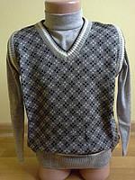 жилетка, одежда для мальчиков 5-12 лет