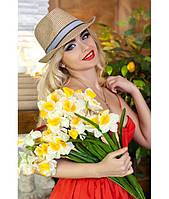 Модная соломенная шляпа в 2х цветах 1571