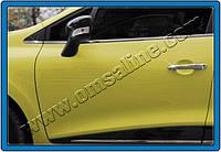Накладки на дверные ручки (нерж) Renault Clio 4