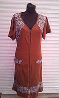 Летний женский халат размеры (52-62)