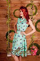 Женское платье миди без рукавов из лёгкой ткани БАРБИ. S M L