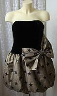 Платье модное вечернее бархатное M&S р.44-46 6619