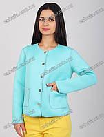 Стильный женский пиджак бирюза