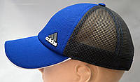 Бейсболка мужская синего цвета с сеткой