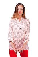 Молодежная женская летняя блузка с сердечками