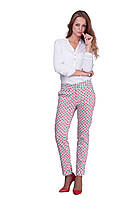 Женские легкие летние хлопковые брюки с принтом