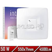 Светильник LED Intelite, 50 Вт, 3000-6000, Квадратный