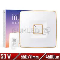 Светильник LED Intelite, 50 Вт, 3000-6000, Квадратный Gold