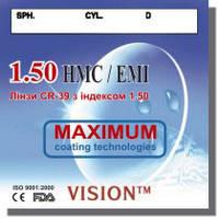 Полимерная линза c покрытием HMC+EMI, индекс 1.5, World Vision Ukraine