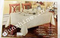 Скатерть Ayisigi Турция 160х220 + 8 салфеток с держателями символа бесконечности