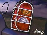 Jeep Liberty 2002-08 хромовые накладки на задние фонари новые оригинал