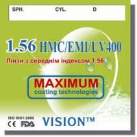 Полимерная, гидрофобная линза c покрытием HMC+EMI, индекс 1.56, World Vision Ukraine
