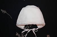 Меховая шапка для новорожденного