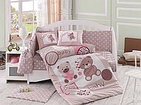 Комплект детского постельного белья Ponpon (Бежевый), Hobby