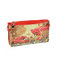 Женская сумка клатч Красные маки