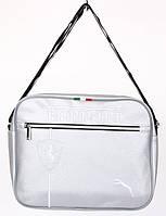 Сумка спортивная Ferrari серебро (кожзам) 6х26х32 SOR /09-5