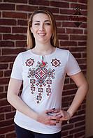 Жіноча вишита футболка Писанка червона