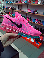Кроссовки женские Nike Air Max Flyknit 2016 Pink