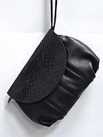 Маленькая женская кожаная барсетка сумка клатч ELZAM Украина
