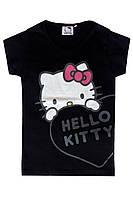 Футболка для девочки Hello Kitty; 128 размер