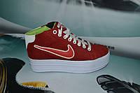 Женские повседневные кроссовки NIKE  Air красные с белым
