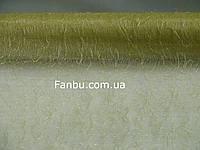Органза с ворсом на метраж,цвет светло оливковый (ширина 47-50см)