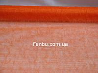 Органза с ворсом на метраж,цвет оранжевый(ширина 47-50см)