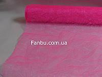 Органза жатая на метраж,цвет розовый(ширина 60см)