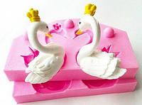 Молд 3D Лебеди с короной
