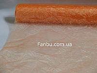 Органза жатая на метраж,цвет персиковый(ширина 60см)