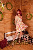 Женское платье мини выше колен без рукавов, из коттона стрейча