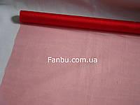 Органза обычная на метраж,цвет красный(ширина 70см)